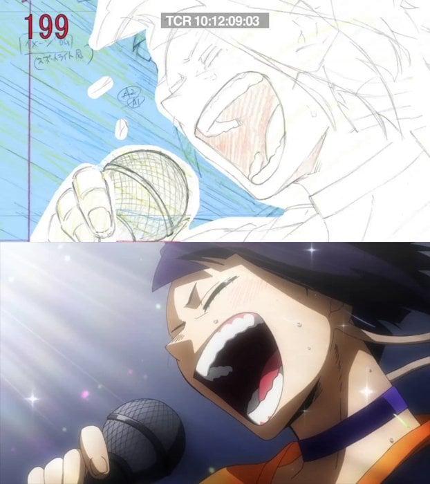 ボンズ手描きアニメの魅力!『僕のヒーローアカデミア』貴重な線撮&完成版の比較映像が解禁の画像002